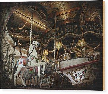 Wood Print featuring the photograph Carousel by Barbara Orenya