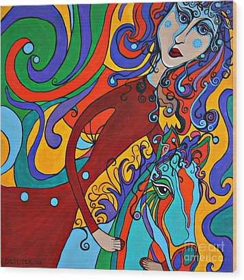 Carousel Dance Wood Print