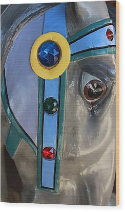 Wood Print featuring the photograph Carousel Horse by Diane Alexander