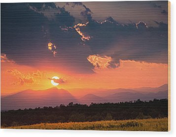 Wood Print featuring the photograph Carpathian Sunset by Mihai Andritoiu