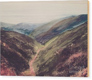 Carpathian Valleys Wood Print by Trilby Cole