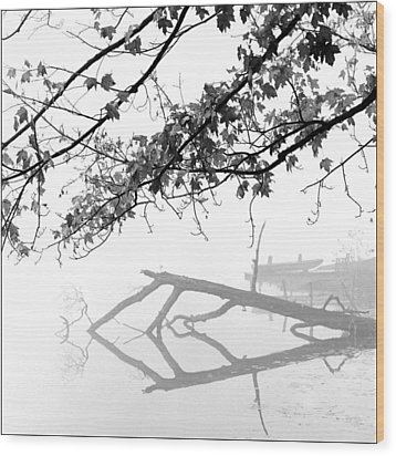 Carpenter Lake Morning Wood Print by Wendell Thompson