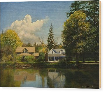 Carpenter's Pond Wood Print by Wayne Daniels