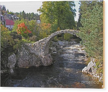 Carrbridge Autumn Wood Print