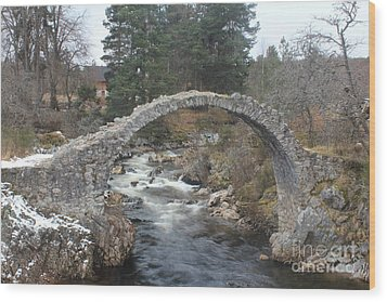 Carrbridge - Scotland Wood Print by David Grant