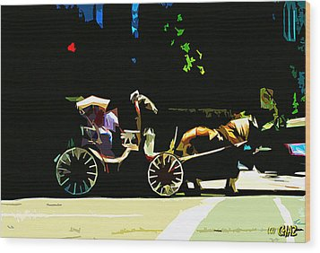 Carriage Ride Wood Print by CHAZ Daugherty