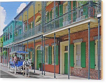 Carriage Ride New Orleans Wood Print by Christine Till