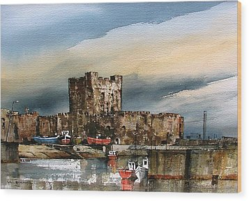 Carrickfergus Castle  County Antrim Wood Print