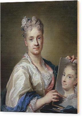 Carriera Rosalba, Self-portrait, 1715 Wood Print by Everett