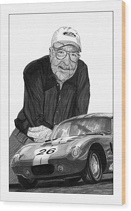 Carroll Shelby    Rest In Peace Wood Print by Jack Pumphrey