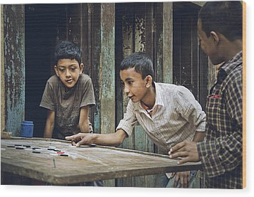 Carrom Boys Wood Print