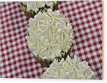 Carrot Cupcakes Wood Print by Susan Leggett