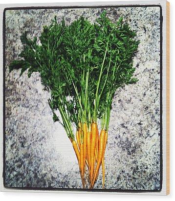 Carrots Wood Print by Izabela Bienko