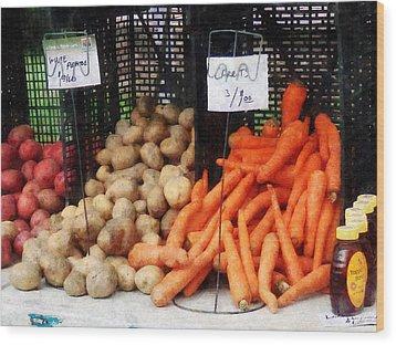 Carrots Potatoes And Honey Wood Print by Susan Savad