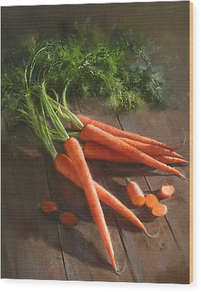 Carrots Wood Print by Robert Papp