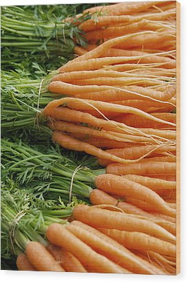 Wood Print featuring the digital art Carrots by Ron Harpham