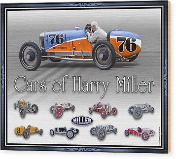 Cars Of Harry Miller Wood Print