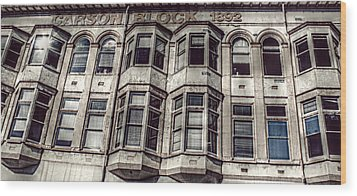Carson Block Wood Print by Melanie Lankford Photography