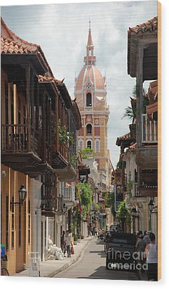 Cartagena Wood Print by Jola Martysz