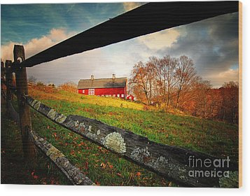 Carter Farm Connecticut Wood Print
