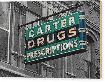 Carter Prescription Drugs Wood Print