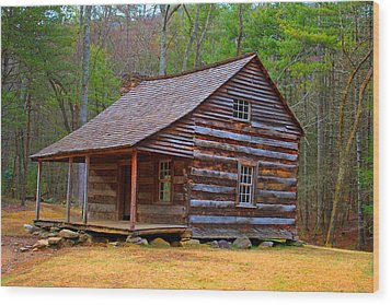 Carter Shields Cabin 2 Wood Print by Wild Expressions Photography