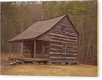 Carter Shields Cabin 3 Wood Print by Wild Expressions Photography