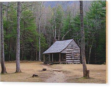 Carter Shields' Cabin Wood Print by Jim Finch