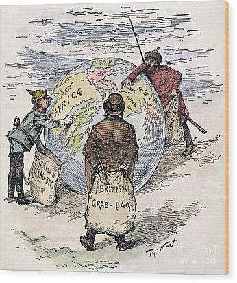 Cartoon - Imperialism 1885 Wood Print by Granger