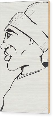 Cartoon Sketch Wood Print by Marc Chambers
