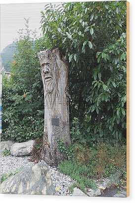 Carved Tree Wood Print