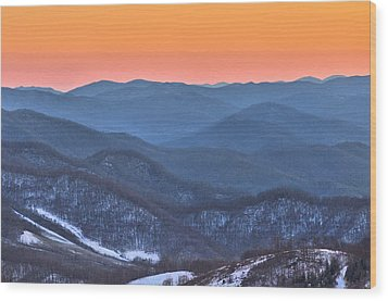 Carver's Gap Wood Print by Donnie Smith