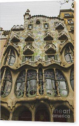 Casa Batllo Exterior Wood Print by Deborah Smolinske