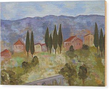 Casas De Segovia Wood Print