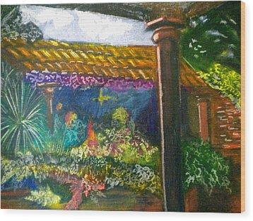 Casa Luna Wood Print by Debi Starr