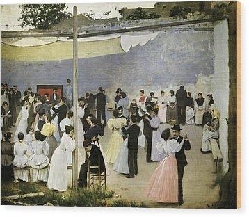 Casas I Carbo, Ram�n 1866-1932. Evening Wood Print by Everett