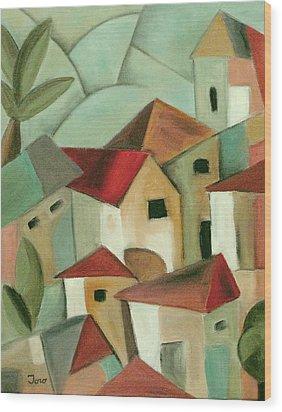 Casas I Wood Print