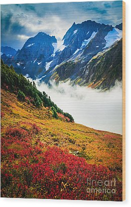 Cascade Pass Peaks Wood Print by Inge Johnsson