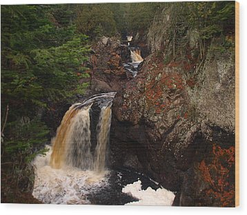 Cascade River Wood Print