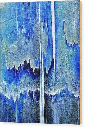 Cascade Wood Print by Tom Druin