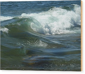 Cascade Wave Wood Print