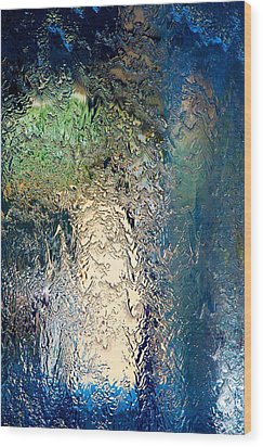 Cascade Wood Print by wDm Gallery