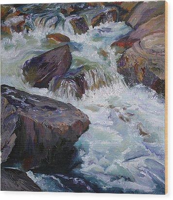 Cascades After Daniel Edmondson Wood Print
