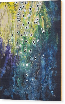 Cascading Colors Wood Print by Tara Thelen