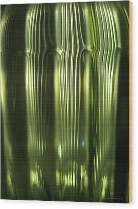 Cascading Green Wood Print