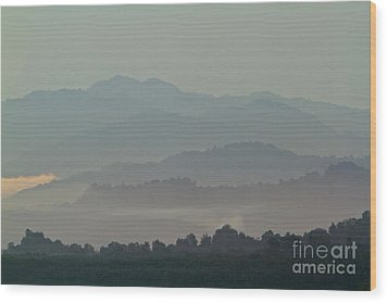 Wood Print featuring the photograph Cascading Hills  by Gary Bridger