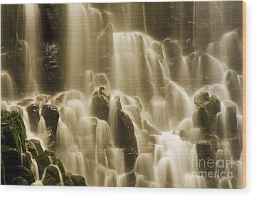 Wood Print featuring the photograph Cascading by Nick  Boren