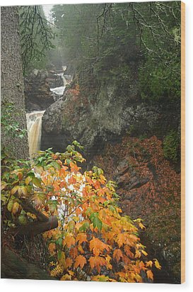 Cascading Steps Wood Print by James Peterson