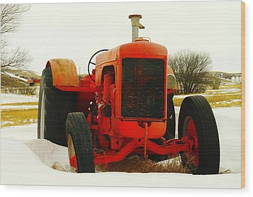 Case Tractor Wood Print by Jeff Swan