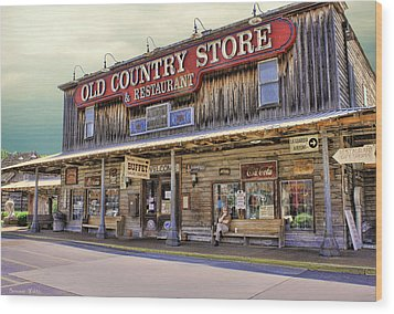 Casey Jones Village Store Wood Print by Bonnie Willis